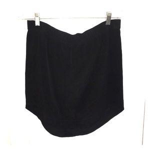 Madewell black 100% silk skirt Size S
